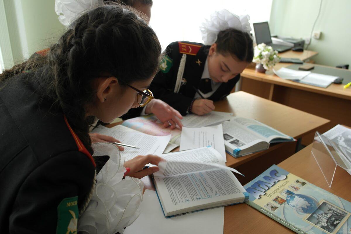 Кадетский класс вмосковской школе