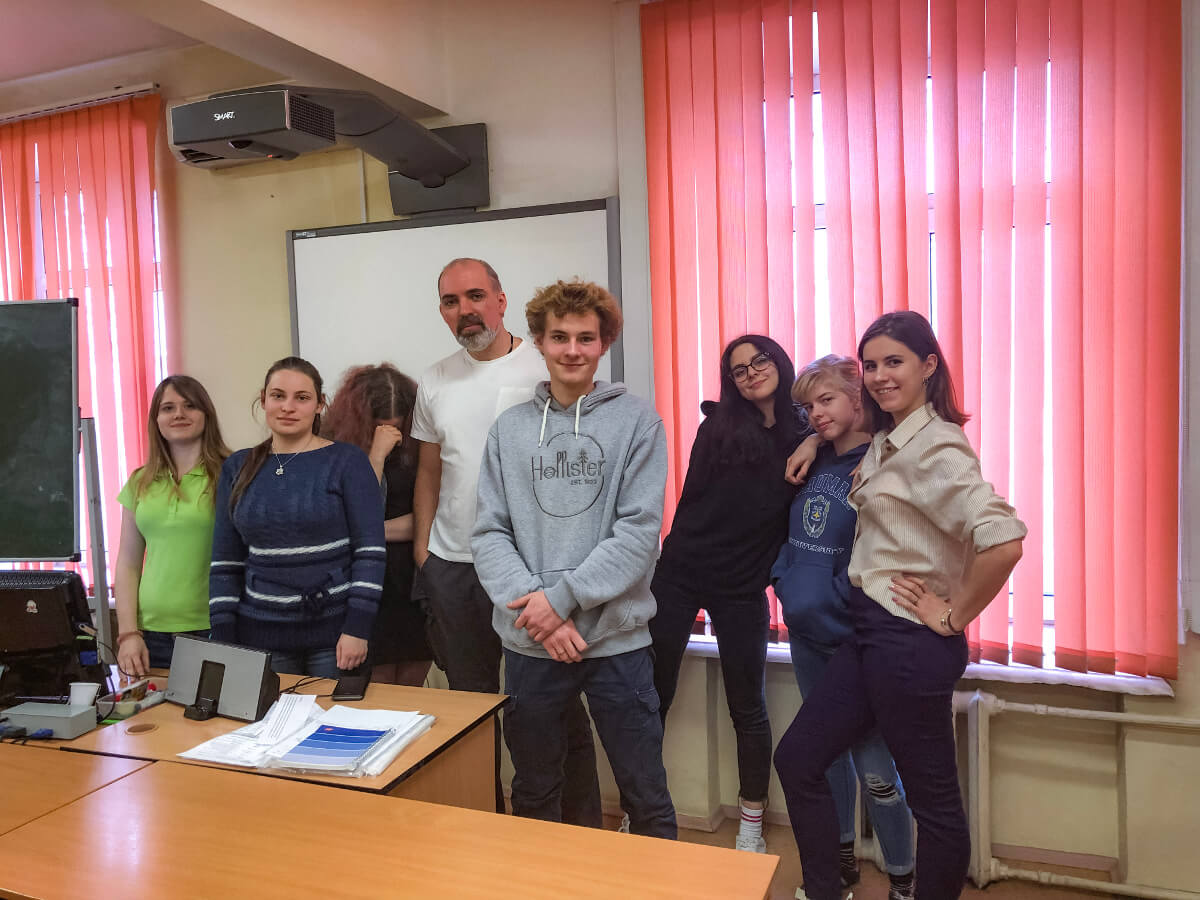 Виталий Селиверстов и его студенты