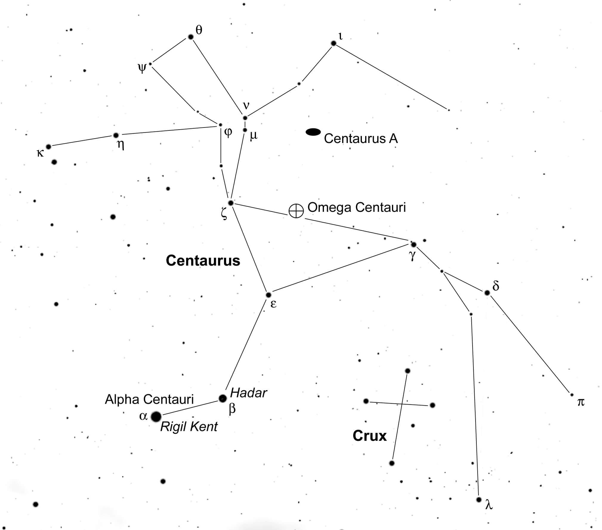 новый объект в созвездии Центавра